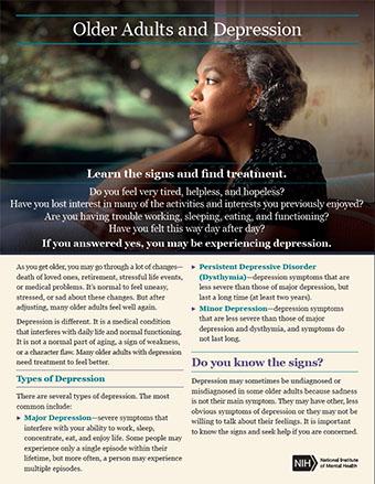older aging depression nimh booklet